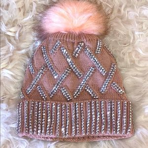 Pink Rhinestone Bling Hat